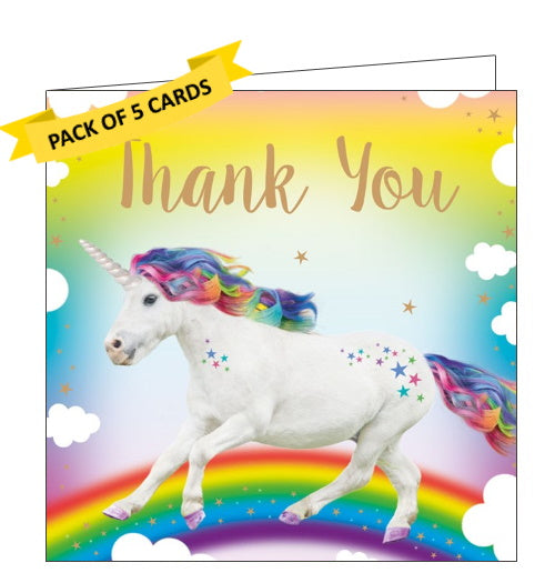 Tracks publishing unicorn pack of thank you cards kids