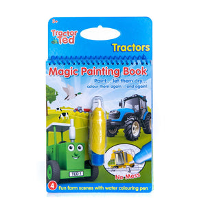 "Guaranteed fun for little ones and perfect for parents too with no need of paint or mess; just a bit of water! Four fantastic farming pictures to ""paint"" using the water pen. See the hidden colours magically appear. Use again and again! The perfect little book to take on trips out."