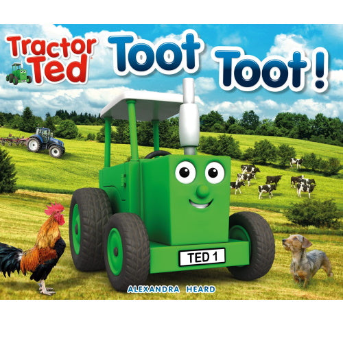 Tractor Ted reading book toot toot