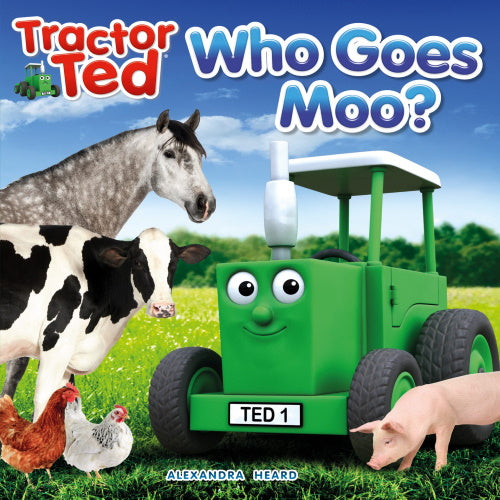 Tractor Ted reading book who goes moo