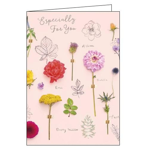 UKG Gibson into the meadow especially for you flowers florals birthday card for her Nickery Nook