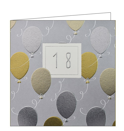 Wendy Jones Blackett balloons 18th birthday card