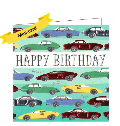 Wendy Jones Blackett classic cars birthday card