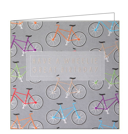 Wendy Jones Blackett cycling wheelie great birthday card
