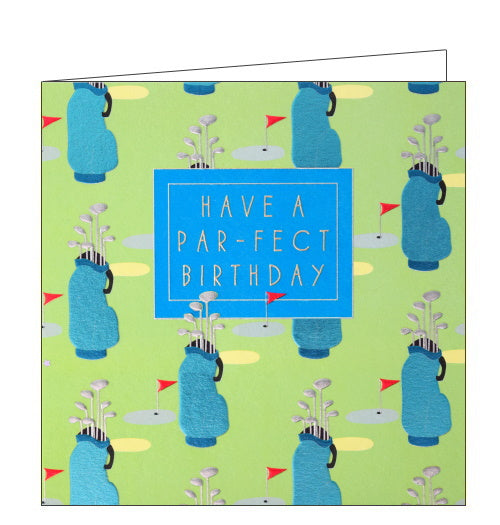 Wendy Jones Blackett golf par-fect birthday card