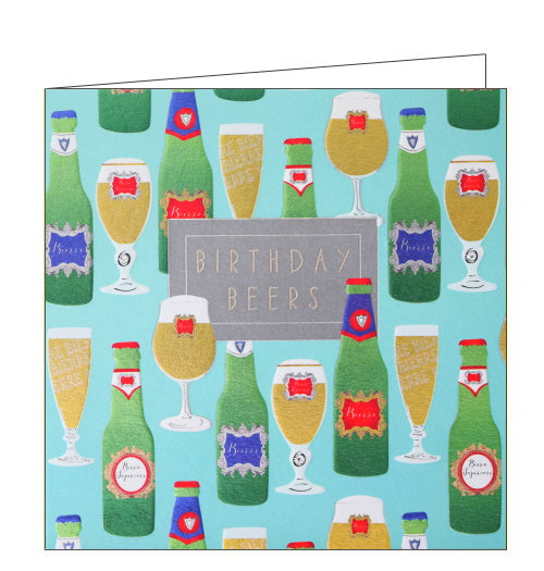 Wendy Jones Blackett lager beer birthday card