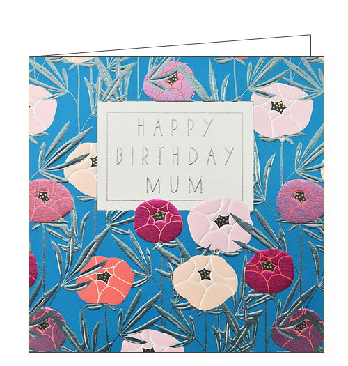 Wendy Jones Blackett peonies mum birthday card for mum