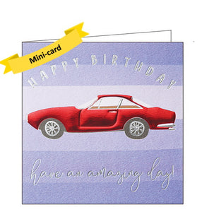 Wendy Jones Blackett red car birthday card