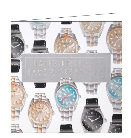 Wendy Jones Blackett rolex wristwatch birthday card