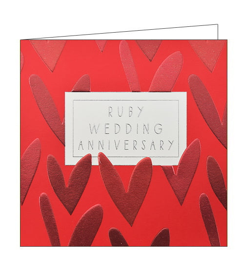 Wendy Jones Blackett ruby wedding anniversary card