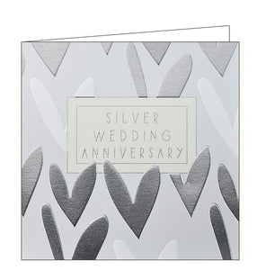 Wendy Jones Blackett silver wedding anniversary card