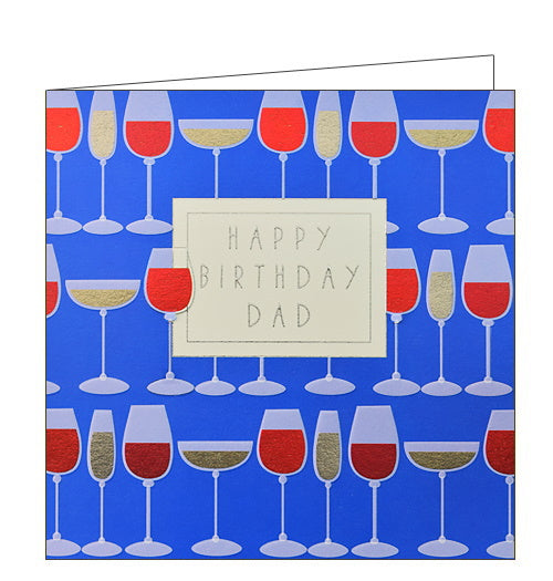 Wendy Jones Blackett wine birthday card for dad