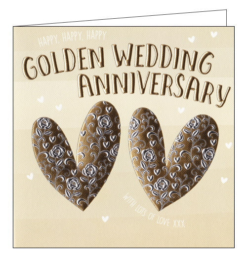 Wendy Jones Goldsmith golden wedding anniversary card