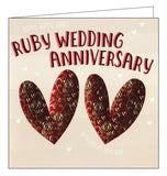Wendy Jones Goldsmith ruby wedding anniversary card