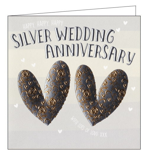 Wendy Jones Goldsmith silver wedding anniversary card
