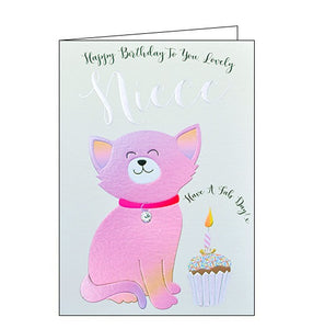 Wendy Jones Blackett cat lovely niece birthday card Nickery Nook