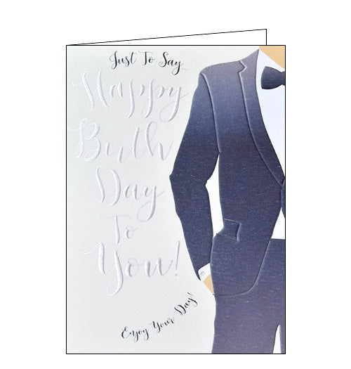Wendy Jones Blackett suit happy birthday card Nickery Nook