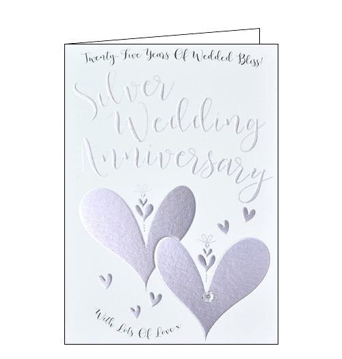 Wendy Jones Blackett twenty-five years of wedding bliss silver weding anniversary card Nickery Nook