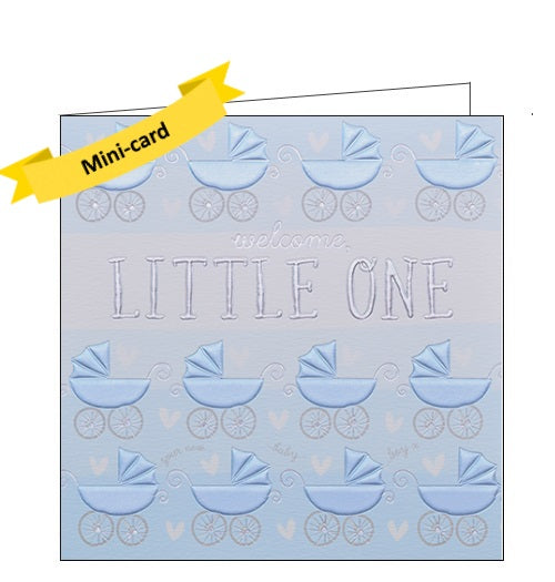 Wendy Jones Blackett welcome little one new baby boy card Nickery Nook