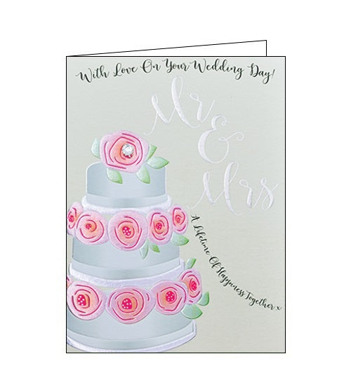 Wendy Jones Blackett with love on your wedding day card Nickery Nook