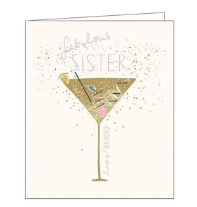 Wonderful fabulous sister Happy Birthday card Nickery Nook