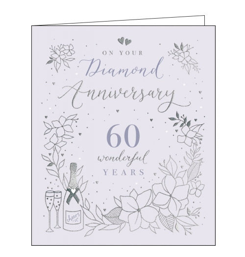 Woodmansterne 60th wedding anniversary card diamond wedding anniversary card