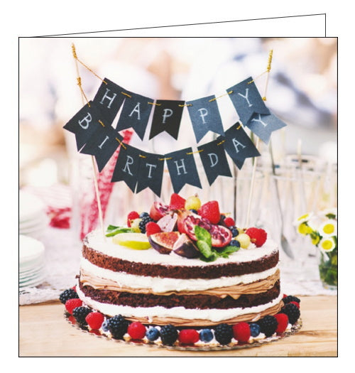 Woodmansterne Framed cake with bunting birthday card