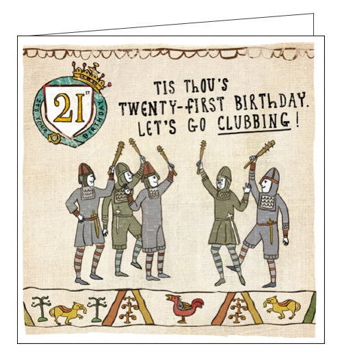 Woodmansterne Hysterical Heritage History 21st birthday card