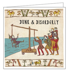Woodmansterne Hysterical Heritage History dunk and disorderly card