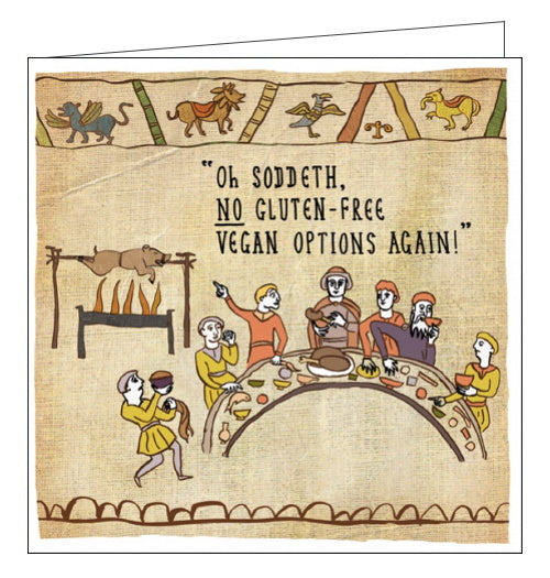 Woodmansterne Hysterical Heritage History gluten free card