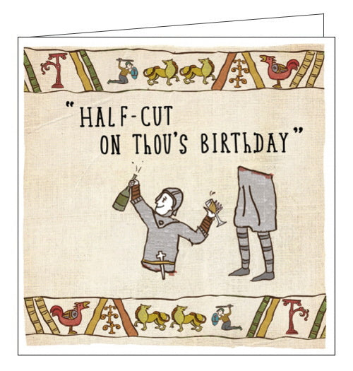Woodmansterne Hysterical Heritage History half cut birthday card