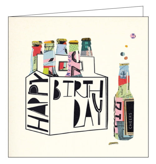 Woodmansterne Mambo beers birthday card