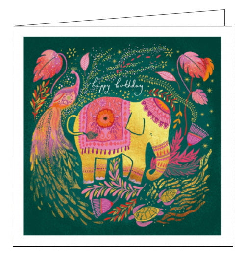 Woodmansterne Opium elephant birthday card