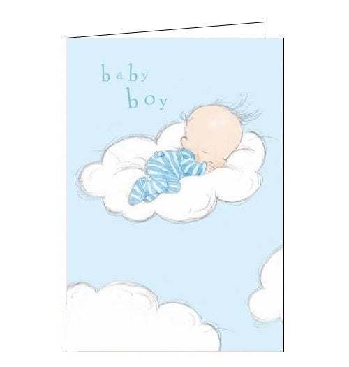 Woodmansterne - Cloud Nine - New baby Boy card - Nickery Nook