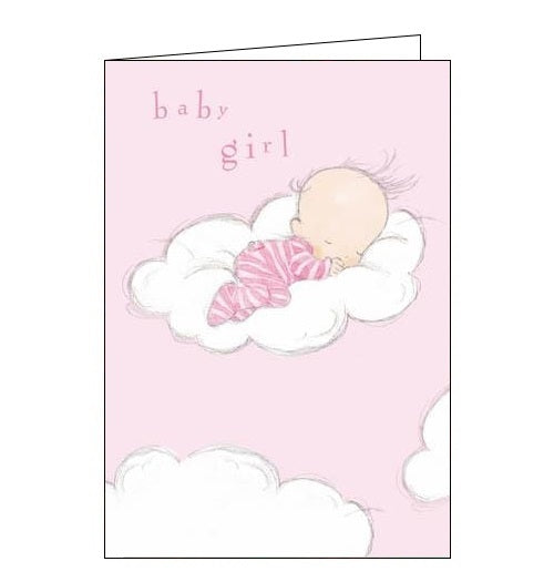 Woodmansterne - Cloud nine - New baby girl card - Nickery Nook