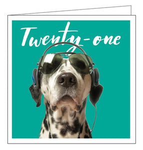 Woodmansterne 21st birthday card dalmatian dog