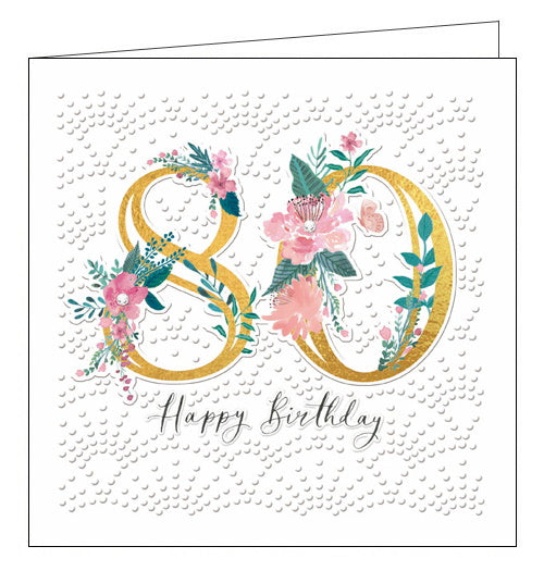 Woodmansterne 80 today Happy 80th Birthday card Nickery Nook