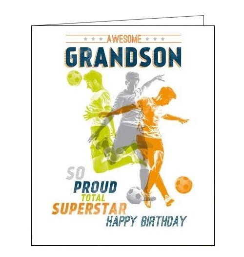 Woodmansterne Alpha Ian Blake football grandson birthday card Nickery Nook