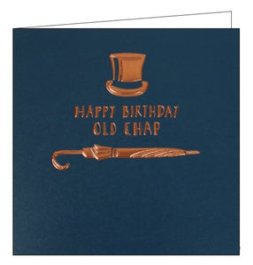 Woodmansterne Alpha for him top hat old chap Birthday card Nickery Nook