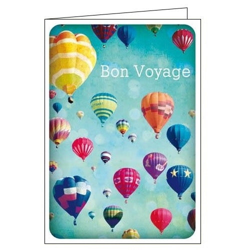 Woodmansterne Bon Voyage sorry you're leaving good luck card Nickery Nook