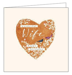 Woodmansterne Claire Hocking wonderful wife birthday card Nickery Nook