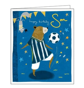 Woodmansterne Emma Grant Happy Birthday cute football son birthday card Nickery Nook