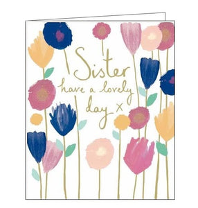 Woodmansterne Emma Grant sister birthday card Nickery Nook