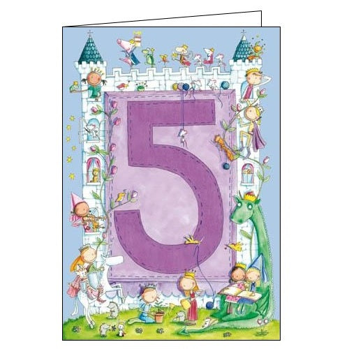 Woodmansterne Fairytale 5 today 5th Birthday card Nickery Nook