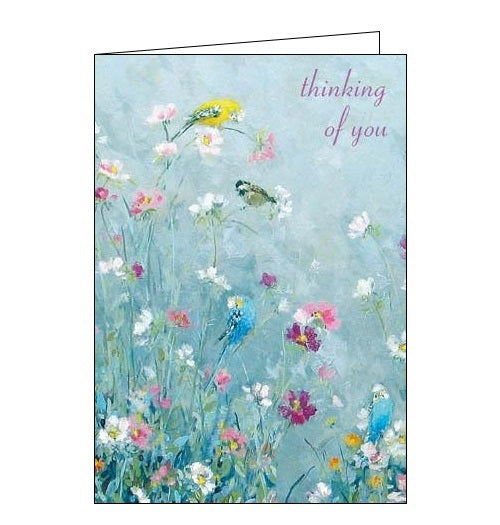 Woodmansterne cards. Designed by Fletcher Prentice. Sweet Sounds - birds thinking of you card from Nickery Nook