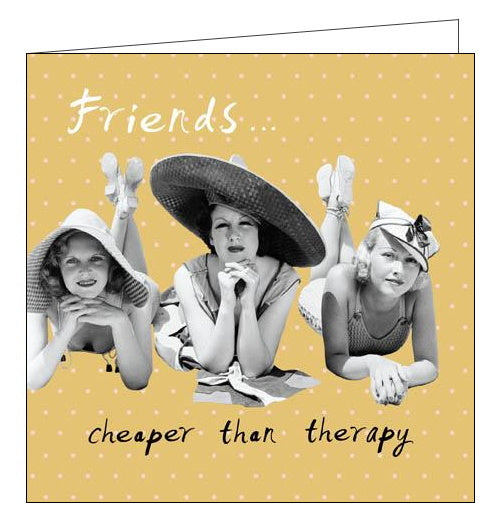 Woodmansterne Framed Again friends are cheaper than therapy birthday card Nickery Nook