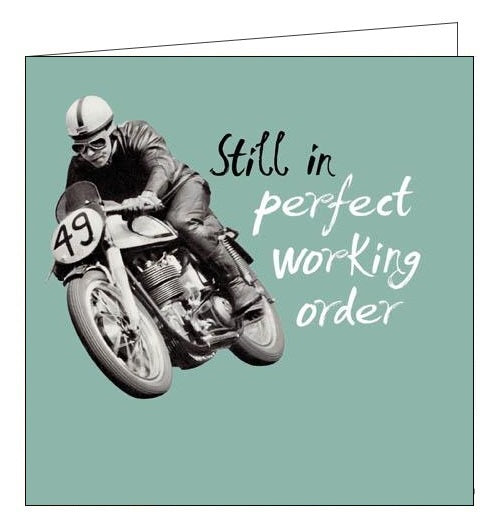 Woodmansterne Framed Again funny motorbike birthday card Nickery Nook