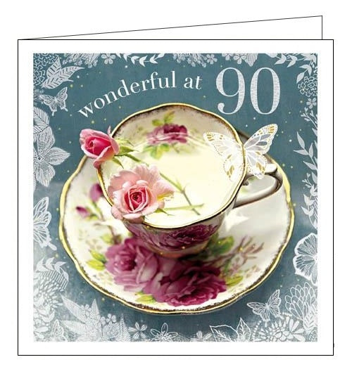 Woodmansterne Framed Esprit Wonderful at 90 Birthday card Nickery Nook