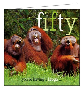 Woodmansterne Framed Hilarious Happy 50th Birthday card Nickery Nook