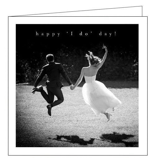 Woodmansterne Framed congratulations happy i do day wedding day card nickery nook